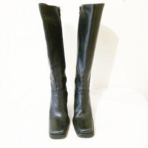 Charles David Black Platform Boots Size 7.5
